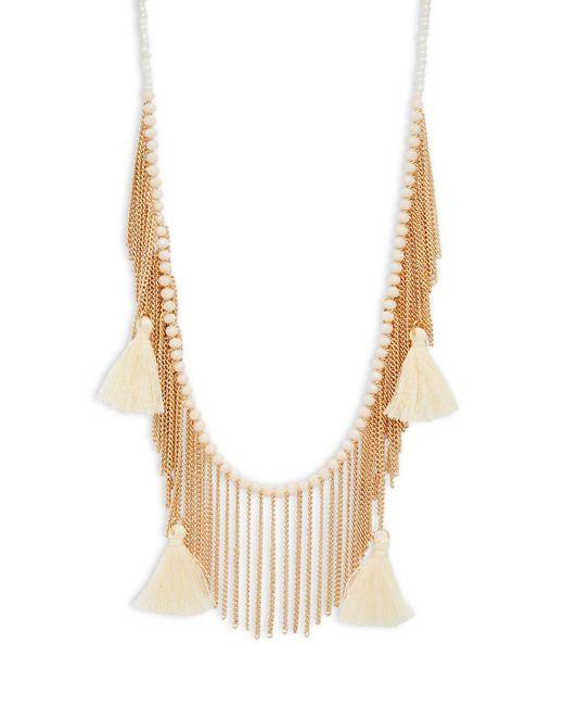 Panacea - Metallic Beaded Fringed Necklace - Lyst
