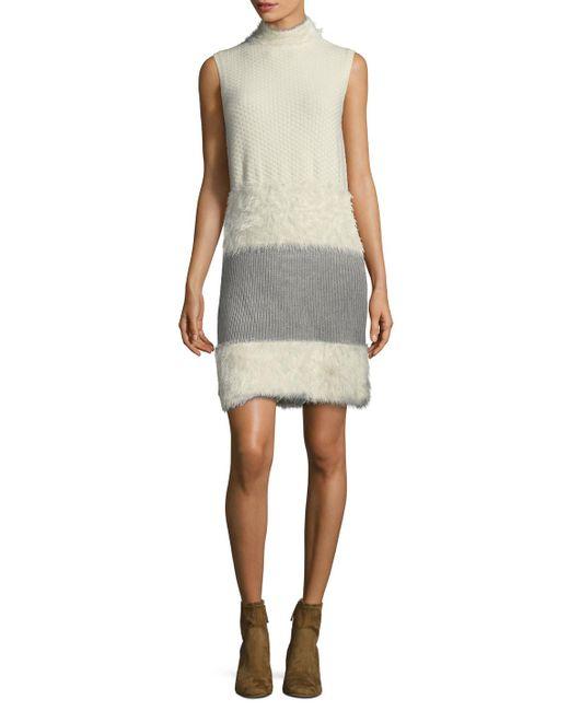 Diane von Furstenberg | White Dvf Plush Dress (look 11) | Lyst