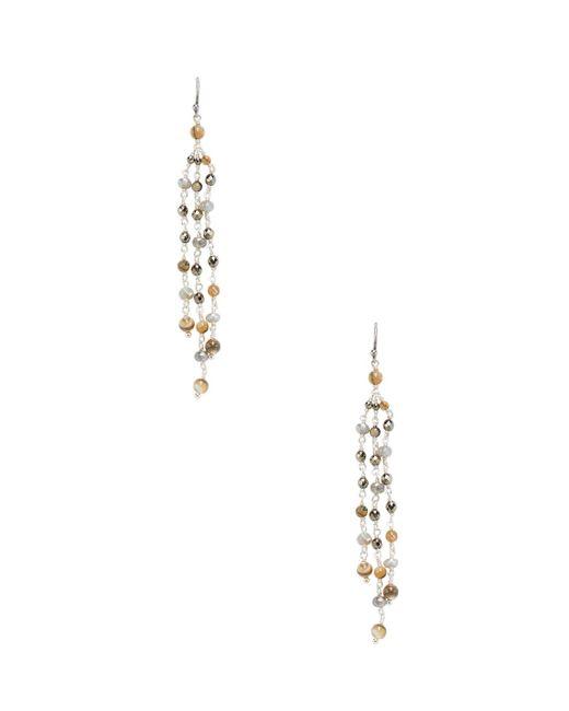Chan Luu - Multicolor Abalone, Mystic Lab, Titanium Pyrite & Base Metal Earrings - Lyst