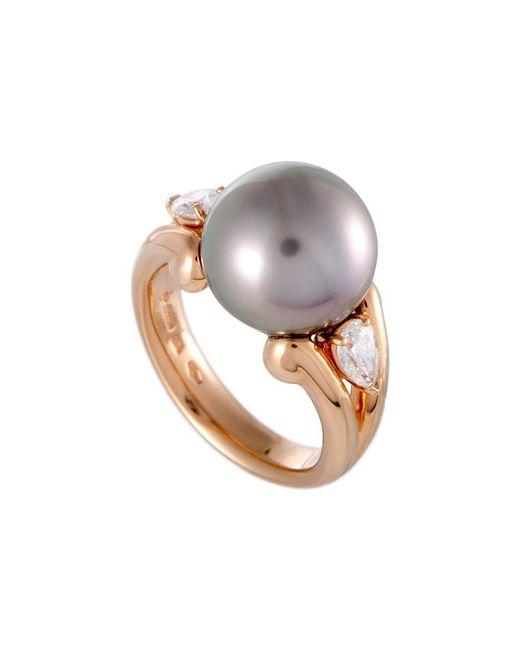 Mikimoto - Metallic 18k Rose Gold 0.50 Ct. Tw. Diamond & 12mm Pearl Ring - Lyst