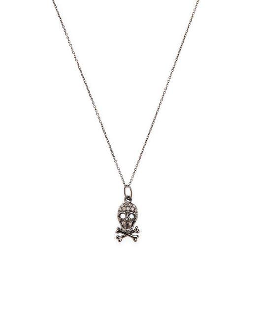 Sydney Evan - Metallic Mini Skull Necklace - Lyst
