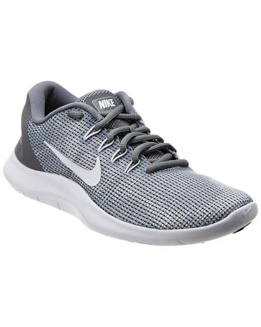 4accb2f65d60 Nike - Gray Flex Rn 2018 Mesh Sneaker - Lyst ...