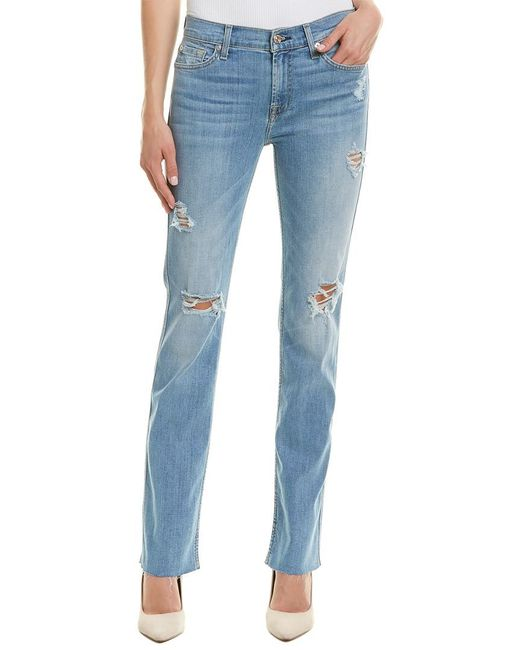 7 For All Mankind - Blue 7 For All Mankind Dylan Htv3 Straight Leg - Lyst