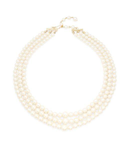 ERWIN PEARL STUDIO - White Faux Pearl Triple Strand Necklace - Lyst