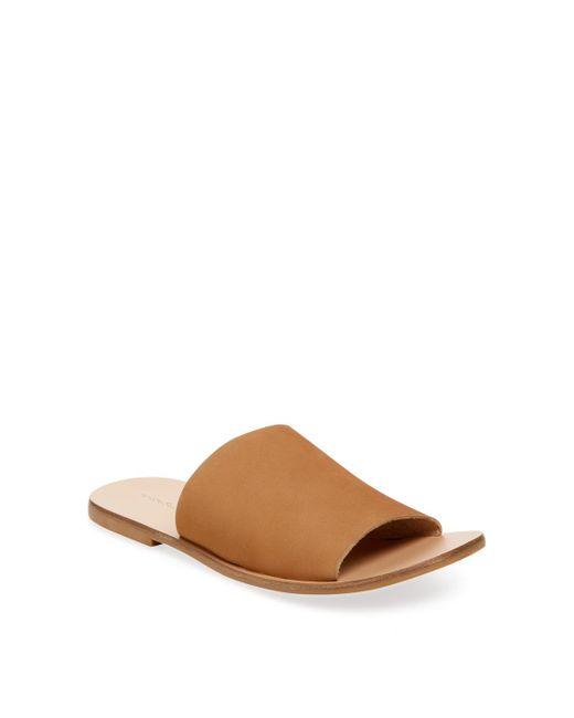 Pure Navy - Brown Slip-on Criss-cross Sandal - Lyst