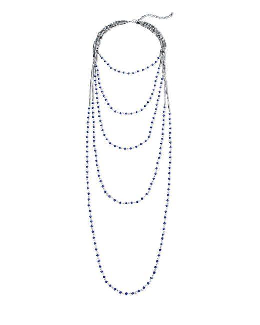 Gemma Simone - Blue Beaded Layer Necklace - Lyst
