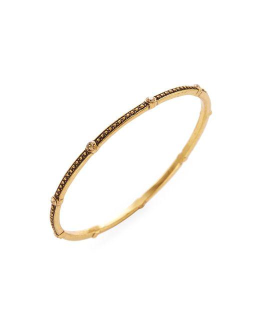 Oscar de la Renta - Multicolor Goldtone Crystal Bracelet - Lyst