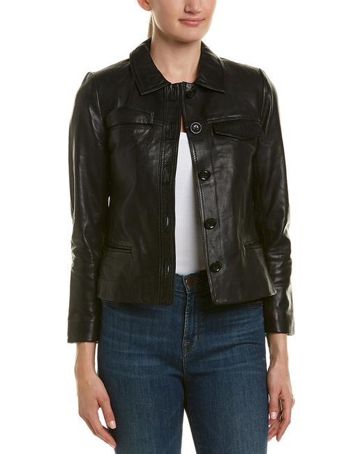 Zadig & Voltaire - Black Liam Leather Jacket - Lyst