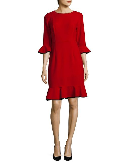 Nanette Nanette Lepore - Zippered Ruffle Dress - Lyst