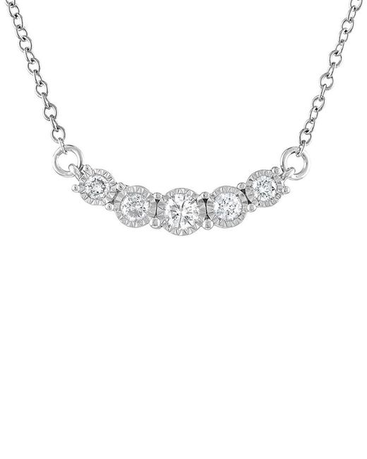 Diana M - Metallic . Fine Jewelry 14k 0.52 Ct. Tw. Diamond Necklace - Lyst