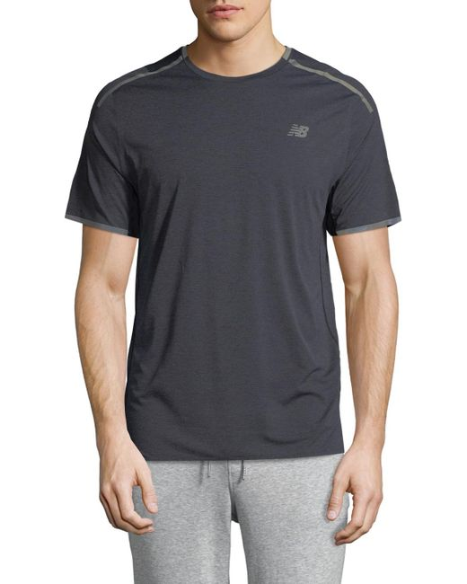 New Balance - Gray Precision Run Top for Men - Lyst