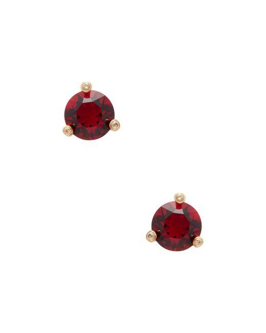 Kate Spade - Red Rise & Shine Mini Square Stud Earrings - Lyst