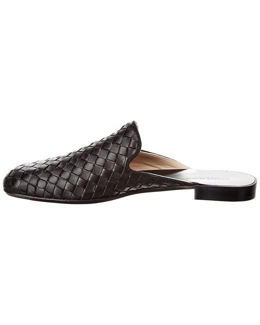 78368c74949ea ... Bottega Veneta - Black Fiandra Backless Leather Loafers - Lyst ...
