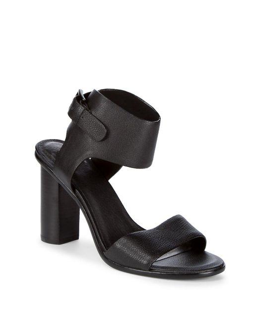 Joie - Black Opal Buckle Cuff Heels - Lyst