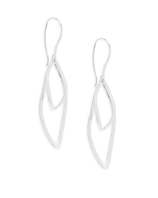 Saks Fifth Avenue - Metallic Sterling Silver Hammered Marquise Earrings - Lyst