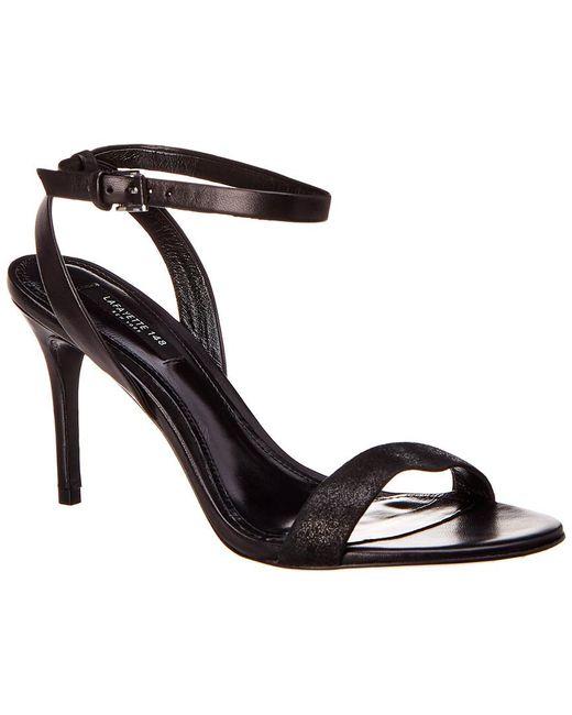 2d8e6be0ced Lafayette 148 New York - Black Lafayette 148 Jewelle Leather Sandal - Lyst  ...