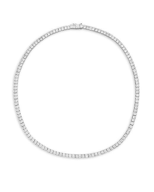 Saks Fifth Avenue - Metallic Silvertone Cubic Zirconia Necklace - Lyst