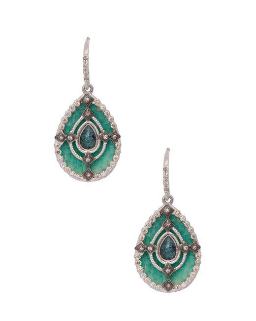 Armenta - Metallic Sterling Silver Mosaic Pear-cut Drop Earrings - Lyst