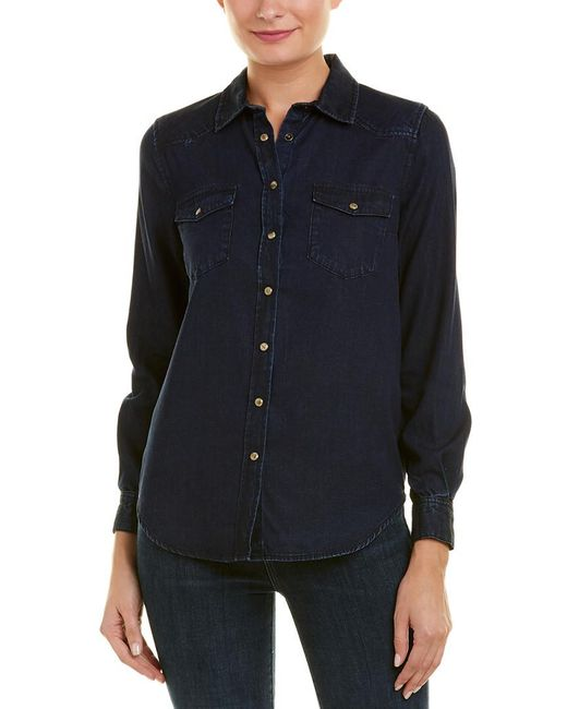 French Connection Blue Leila Denim Shirt