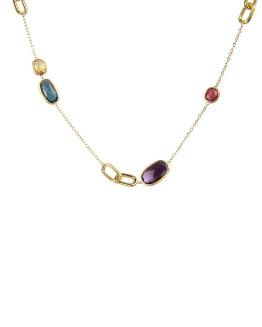 Marco Bicego - Metallic Murano 18k Yellow Gold Mixed Gemstone Necklace - Lyst