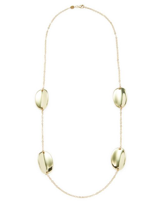 Roberto Coin - Metallic 18k Yellow Gold Chic & Shine Necklace - Lyst