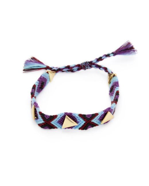 Rebecca Minkoff - Multicolor Triangle Stud Friendship Bracelet - Lyst