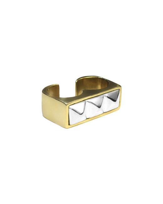 Pamela Love Metallic Double Finger Pyramid Stud Ring