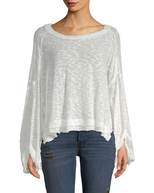 Free People - White Island Girl Pullover - Lyst