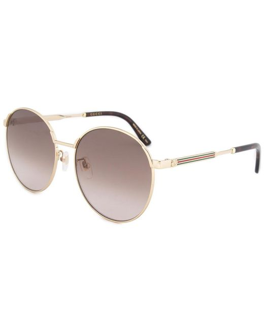 6c2f375a72c Lyst - Gucci Women s Gcc-sung-0206sk-003-58 58mm Sunglasses in Metallic