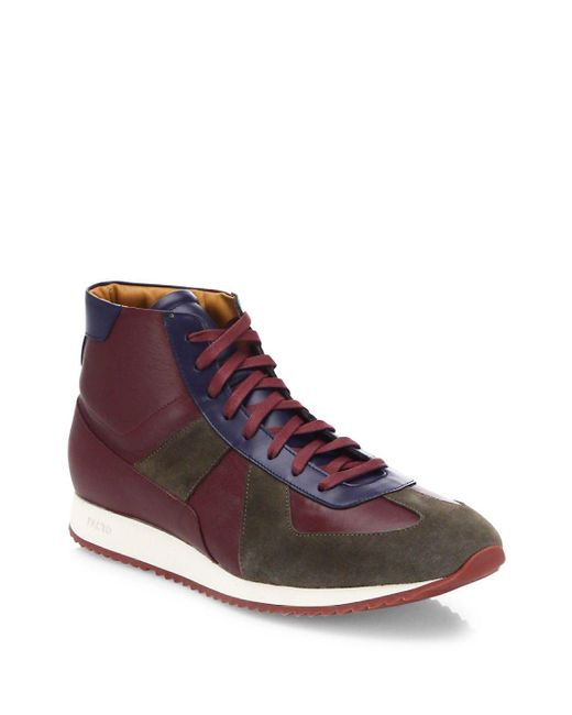 Facto - Multicolor Leather Lace-up High-top Sneakers for Men - Lyst