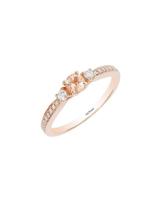 Le Vian - Pink ? 14k Strawberry Gold .36 Ct. Tw. Diamond & Peach Morganite Ring - Lyst