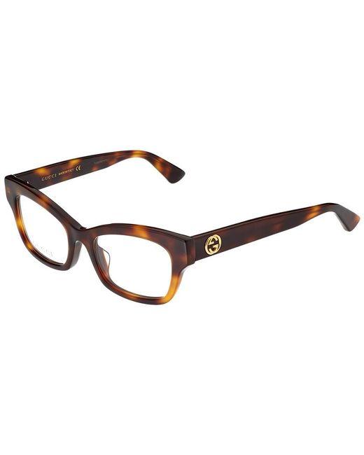 547d72a30 Gucci Women's GG0031OA-30001011002 50mm Optical Frames in Brown ...