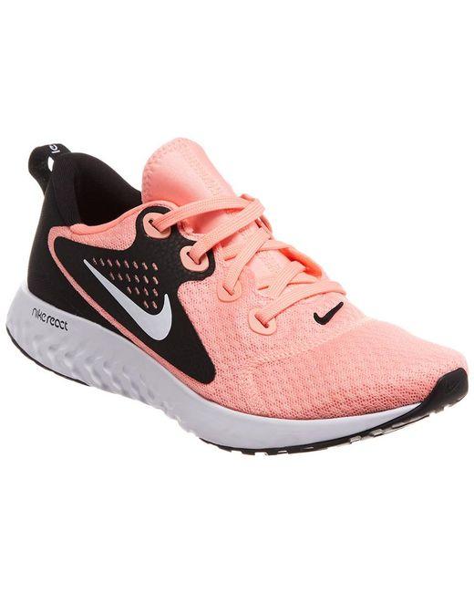 Nike - Pink Legend React Running Shoe - Lyst