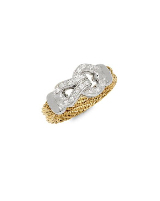 Alor - Metallic Diamonds, 18k White & Yellow Gold Ring - Lyst