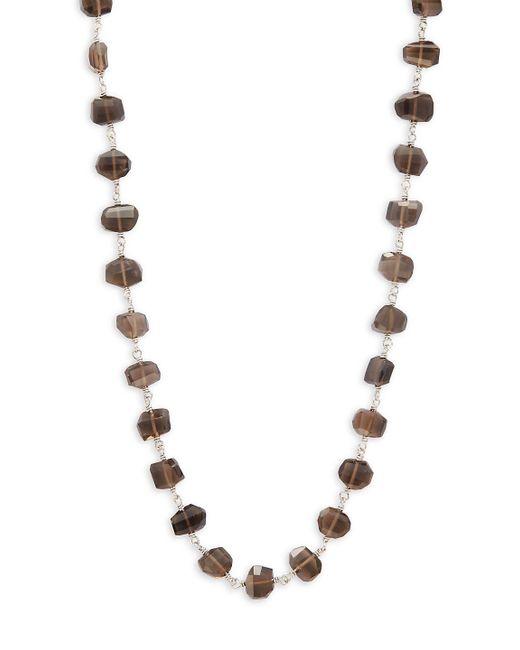 Stephen Dweck - Metallic Smoky Quartz & Sterling Silver Necklace - Lyst
