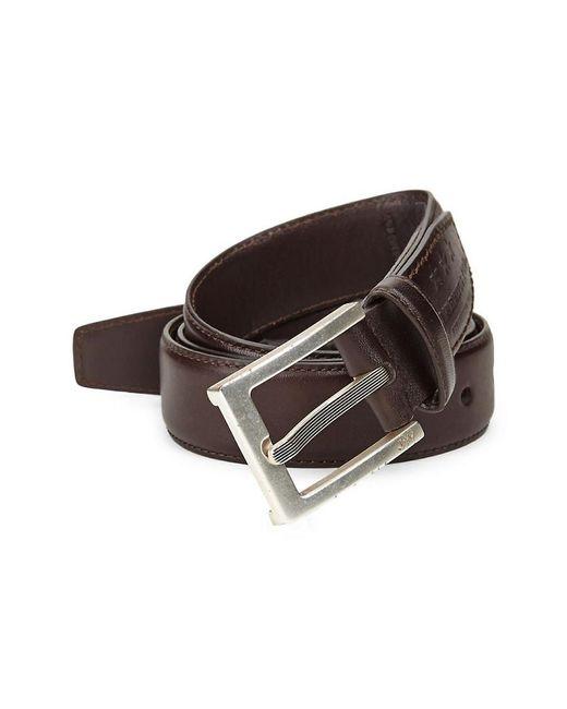 John Varvatos - Brown . Leather Dress Belt for Men - Lyst