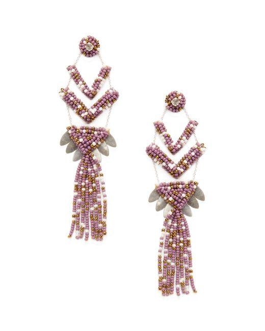 Deepa Gurnani - Purple Neo Statement Earrings - Lyst