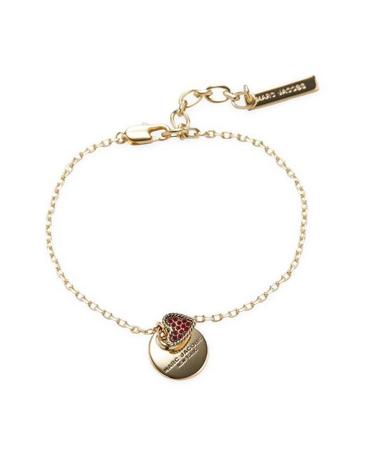 Marc By Marc Jacobs - Red Jewelry Mj Coin Bracelet - Lyst