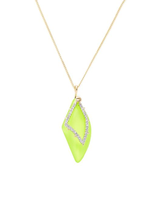 Alexis Bittar | Yellow Lucite Screw Studded Encrusted Petal Pendant Necklace | Lyst