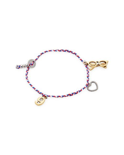 Marc By Marc Jacobs - Metallic Jewelry Glasses Friendship Bracelet - Lyst