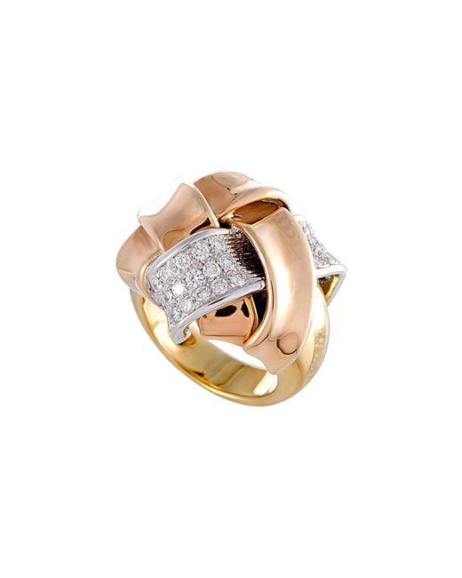 Damiani - Metallic 18k Tri-tone 0.71 Ct. Tw. Diamond Ring - Lyst