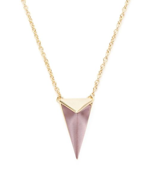 Alexis Bittar - Pink Lucite Faceted Pyramid Pendant Necklace - Lyst