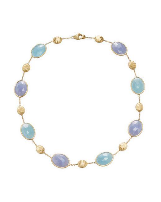 Marco Bicego - Metallic 18k Yellow Gold Aquamarine And Chalcedony Siviglia Resort Necklace - Lyst