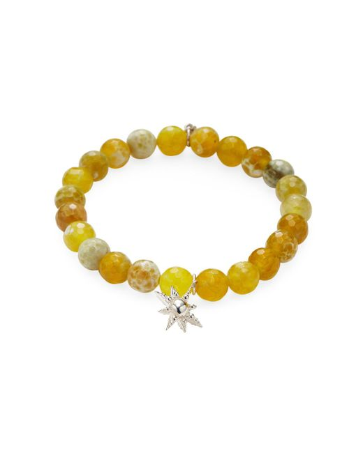 Anzie   Yellow Boheme Agate & Hanging Bubble Star Bracelet   Lyst