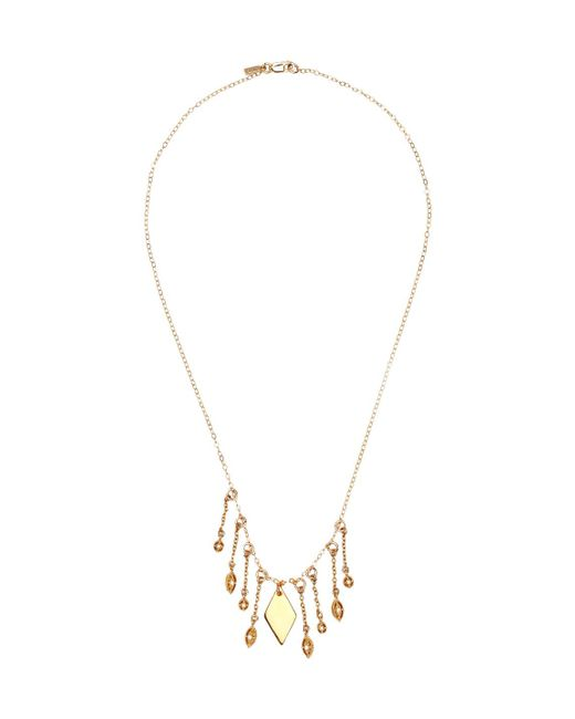 Vanessa Mooney - Metallic Diamond Pendant Necklace - Lyst