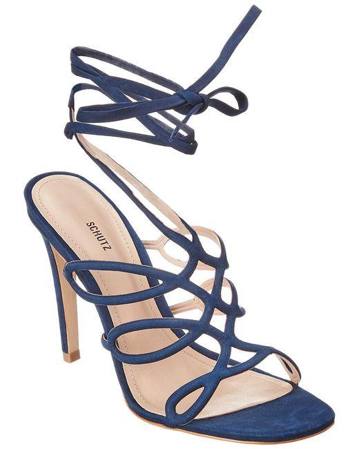 Schutz - Blue Nivia Suede Sandal - Lyst
