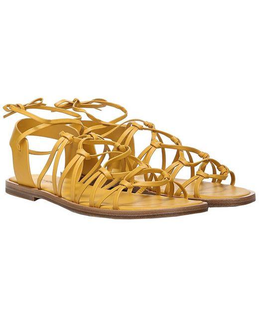 Vince Metallic Palmera Leather Sandal