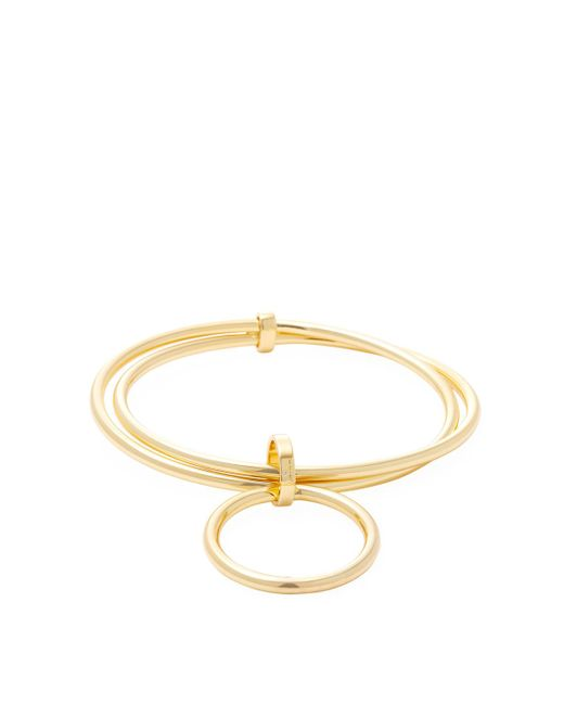 Trina Turk - Metallic Double Ring Bangle Bracelet - Lyst