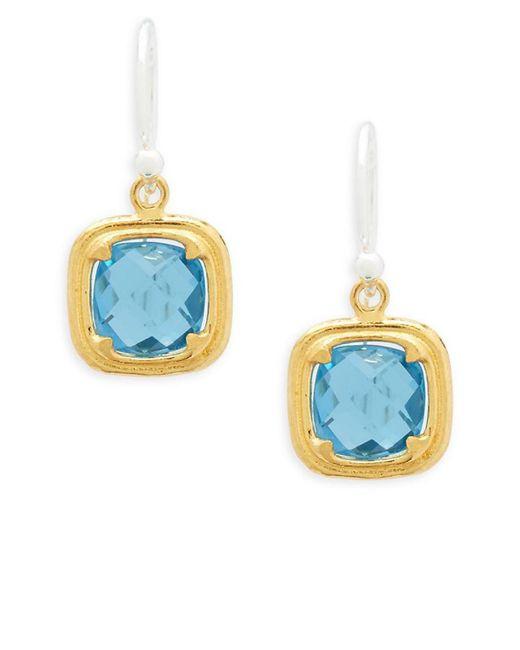 Gurhan - Metallic Malibu 24k Yellow Gold Plated Silver Blue Topaz Drop Earrings - Lyst
