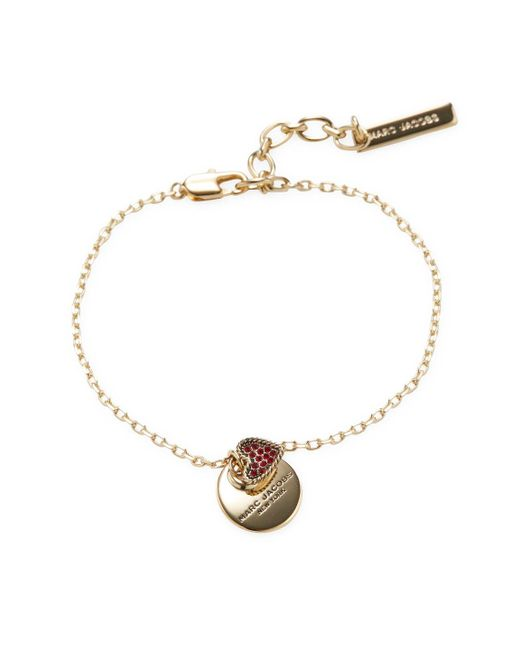 Marc Jacobs - Red Mj Coin Bracelet - Lyst